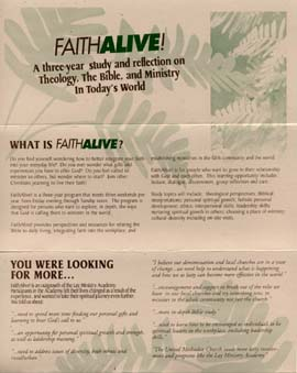 Faith Alive brochure